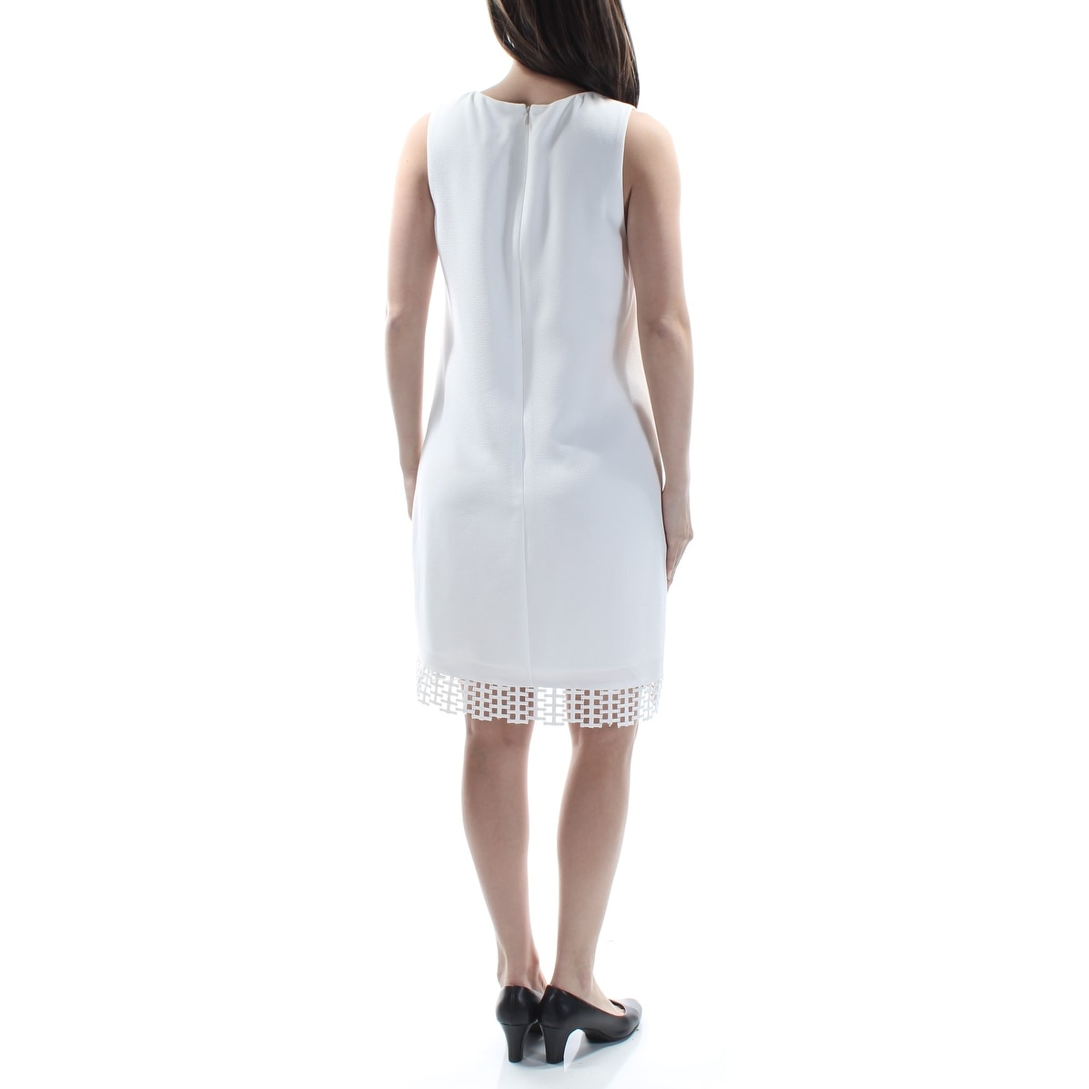 92f0d0ba75c Shop BETSEY JOHNSON Womens White Cut Out V Neck Above The Knee Shift Dress  Size  4X - Free Shipping Today - Overstock - 21368390