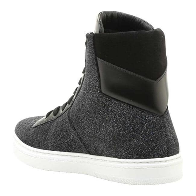 f8d77ef5374 Shop Jimmy Choo Men s Bruno Glitter Dust Leather High Top Sneaker Smoky  Blue Glitter Dust Leather - Free Shipping Today - Overstock - 21727484