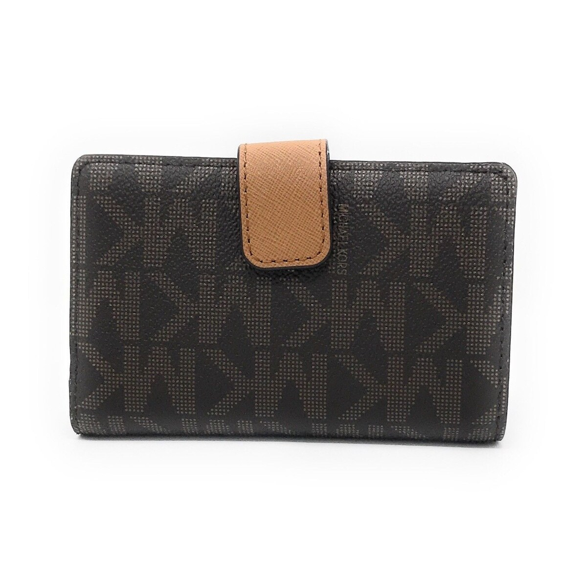 ec206a96f0aa Shop Michael Kors Jet Set Travel Bifold Zip Coin Wallet - Brown/Acorn - Free  Shipping Today - Overstock - 18621567