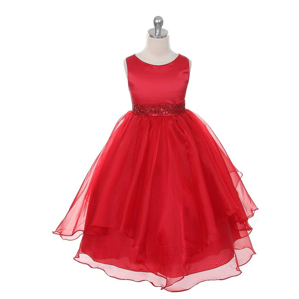 6583704e7f08 Shop Chic Baby Red Layered Beaded Flower Girl Christmas Dress Girls 2T -  Free Shipping On Orders Over $45 - Overstock - 19222489