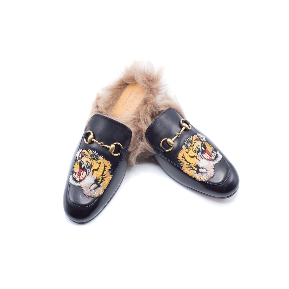 534f815b892f Shop Gucci Mens Princetown Emborided Tiger Slippers Loafers - Ships To  Canada - Overstock - 14950674