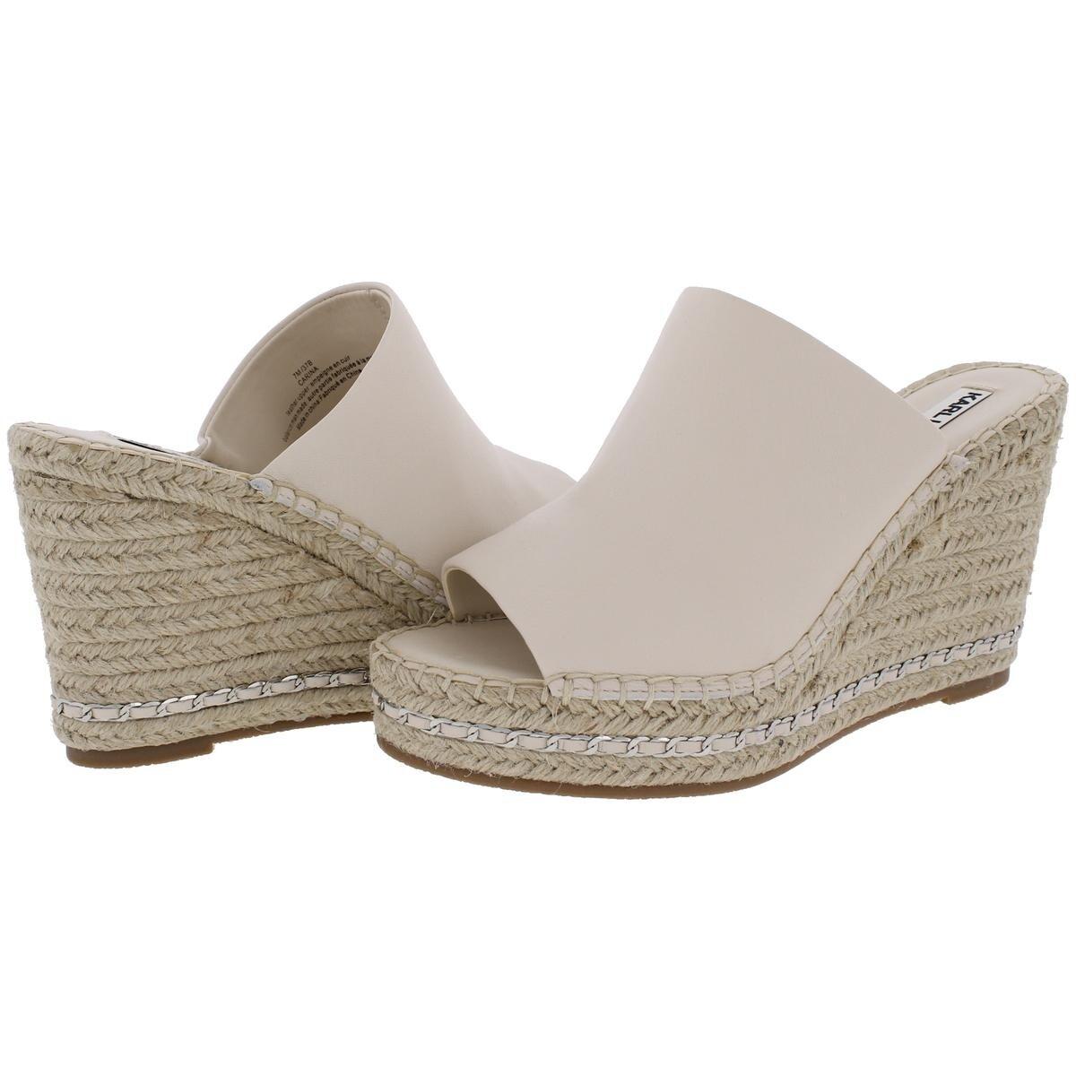fc41e6bdf86 Karl Lagerfeld Paris Womens Carina Wedge Sandals Chain Open Toe