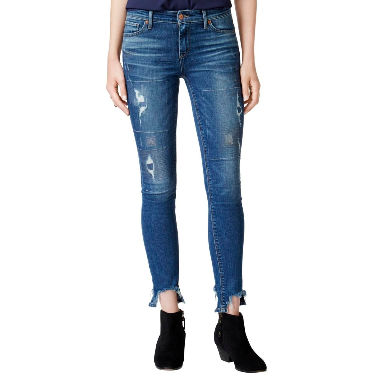 7f4c27e96be1b Shop Lucky Brand Womens Ava Skinny Jeans Ankle Ripped - Free ...