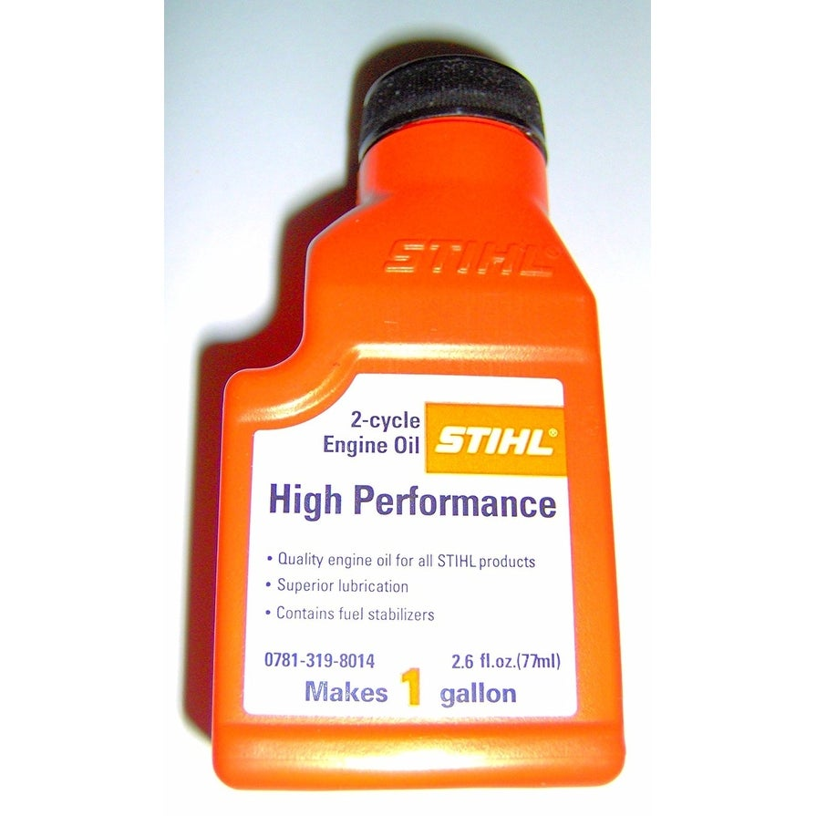 STIHL 0781-319-8014, 2 6 Ounce High Performance 2 Cycle Engine Oil, 1  Gallon Mix, 6-Pack