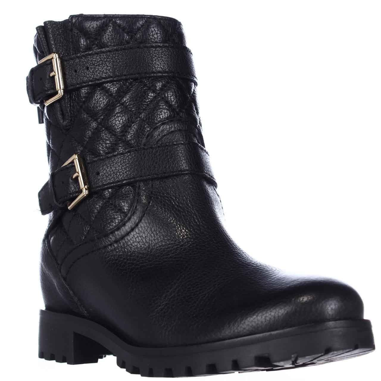 de076bdb6bb6 Shop Kate Spade Samara Quilted Motorcycle Boots, Black - Free Shipping  Today - Overstock - 14032824