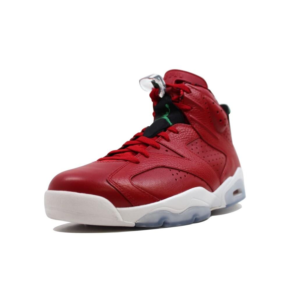 83a3d9698e1c96 Shop Nike Men s Air Jordan VI 6 Retro Spiz ike Varsity Red Classic Green- Black-White History Of Jordan 694091-625 - Free Shipping Today - Overstock  - ...