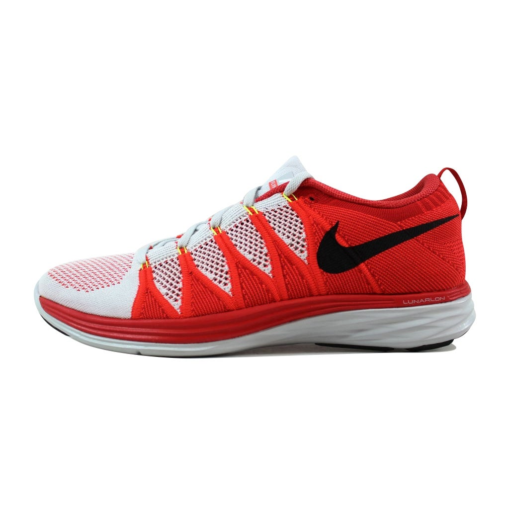 purchase cheap 67826 a279f Shop Nike Flyknit Lunar2 Pure Platinum Black-Bright Crimson-University Red  620465-006 Men s - On Sale - Free Shipping Today - Overstock - 21141512