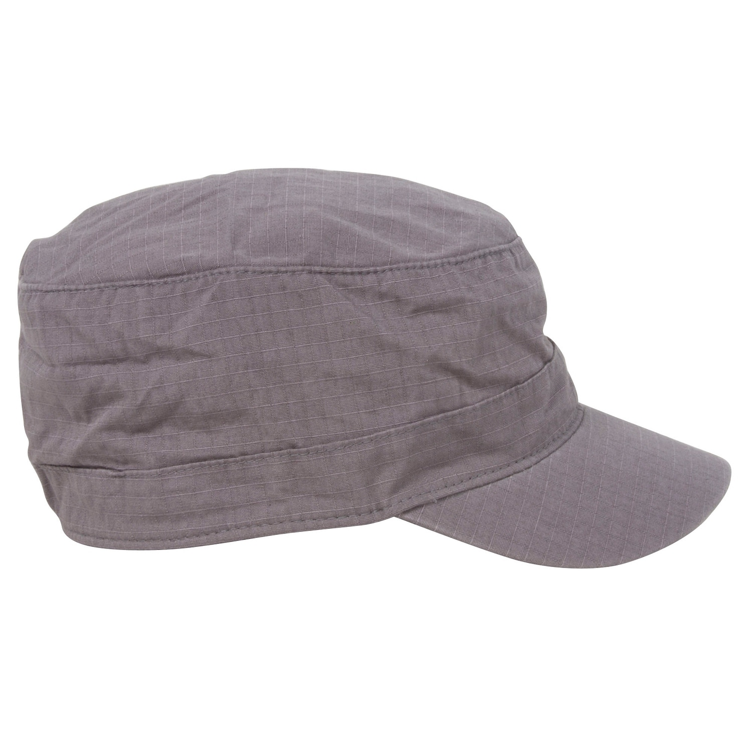 5a627e2f Shop Fitted Cotton Ripstop Army Cap-Charcoal - Free Shipping On Orders Over  $45 - Overstock - 20669433