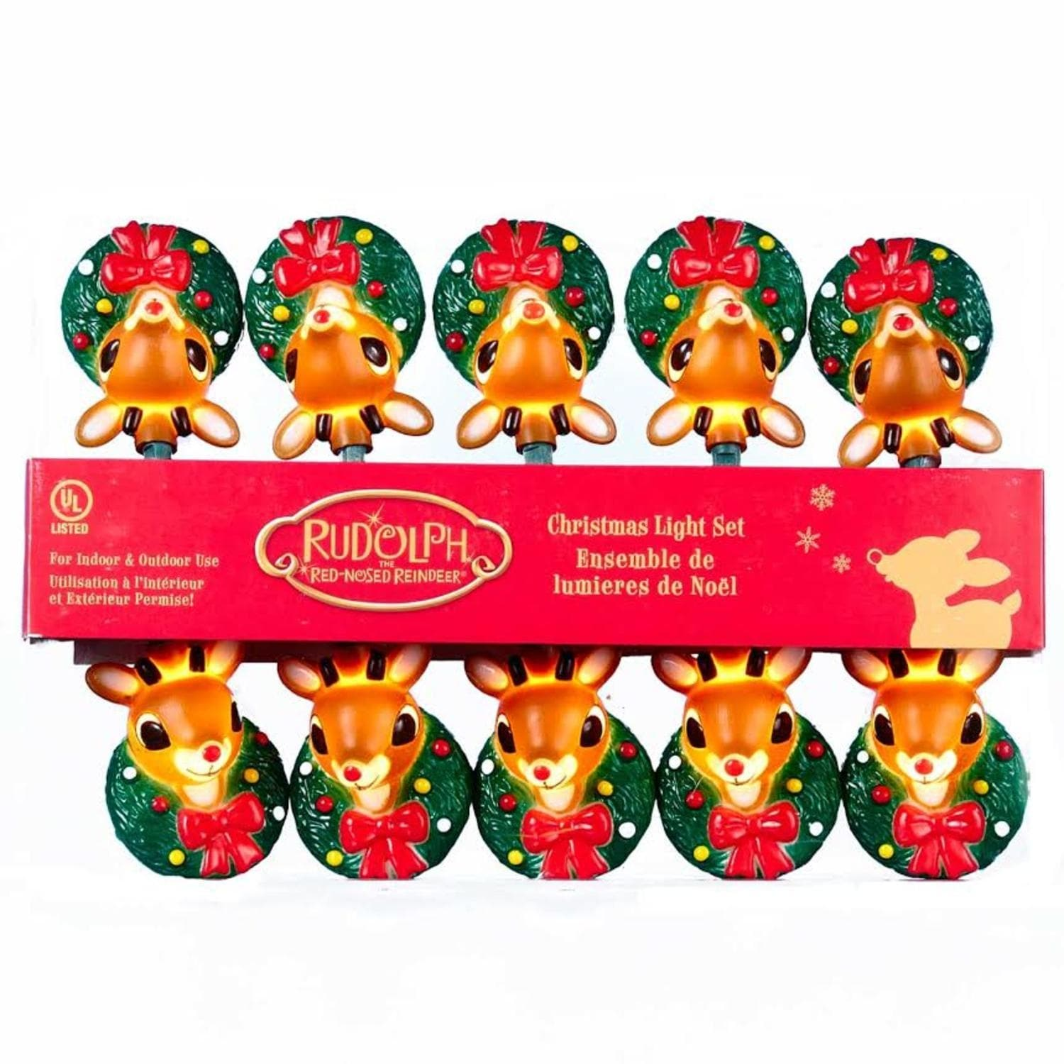 Shop Set of 10 Rudolph the Red Nose Reindeer Novelty Christmas ...