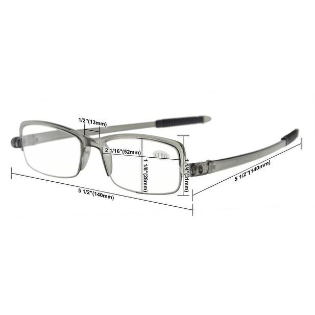 Shop Eyekepper 360 Foldable Temples Eyeglasses With Transparent Case ...