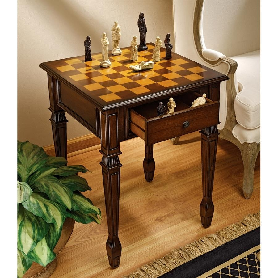 Shop Design Toscano Walpole Manor Gaming Chess Table   Free Shipping Today    Overstock.com   20758950