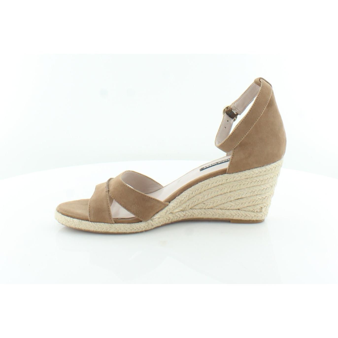 5bdf6bca00 Shop Nine West Jeranna Women's Sandals Dark Natural - 9.5 - Free Shipping  Today - Overstock - 27111261