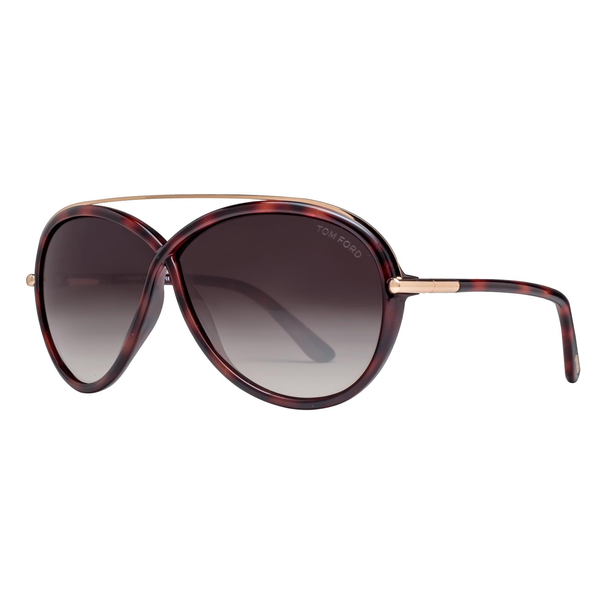 9c72970206f2 Shop Tom Ford Tamara TF 454 52K Dark Havana Brown Gradient Women s Oval  Sunglasses - dark havana brown gold - 64mm-5mm-130mm - Free Shipping Today  ...