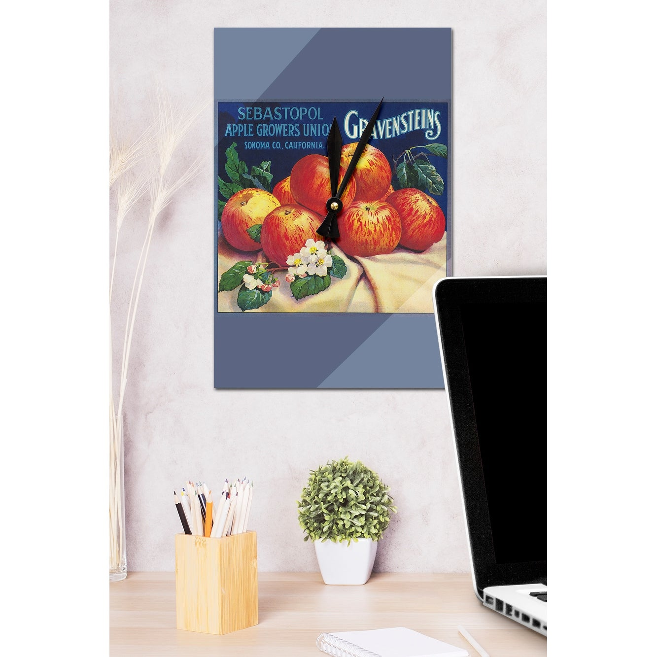 Sebastopol Gravensteins Apple   Vintage Label (Acrylic Wall Clock)    Acrylic Wall Clock   Free Shipping On Orders Over $45   Overstock.com    20260702