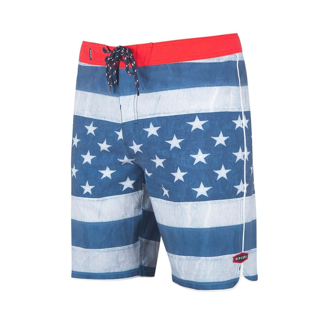 2832023045 Shop Rip Curl Blue Mens Size 31 Stars Stripes Print Board Surf Shorts - Free  Shipping On Orders Over $45 - Overstock - 28077862