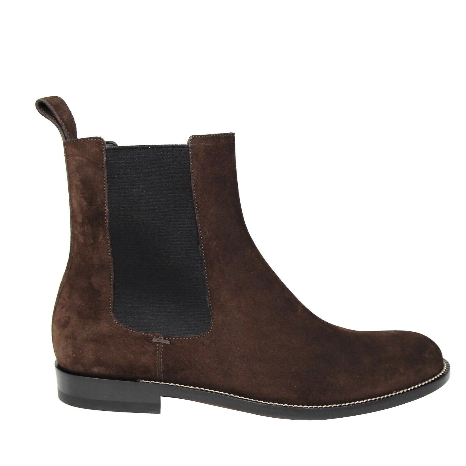 0ce469d37 Gucci Men's Dark Brown Suede Chelsea Boot with Elastic Sides 256346 2145 ( 9.5 G / 10.5 US) - 9.5 G / 10.5 US