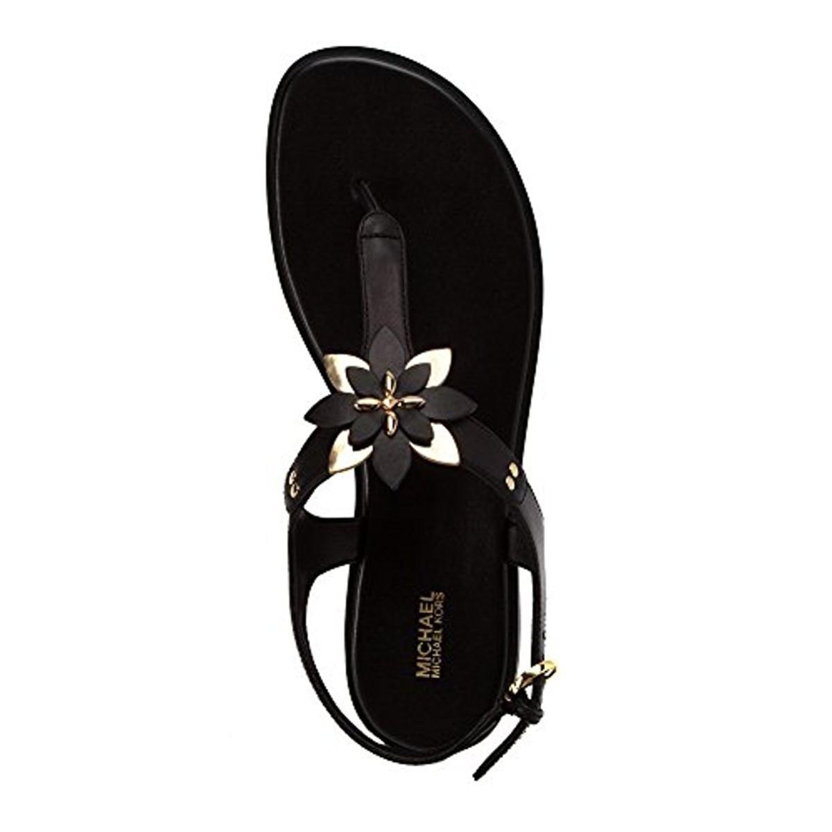 3688dae64e6f Shop MICHAEL Michael Kors Womens Heidi Flat Sandals Metallic T-Strap - 8  medium (b