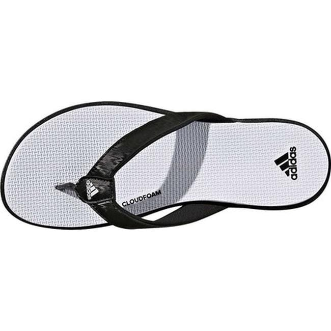 70d38e240 Shop adidas Women s Cloudfoam One Y Thong Sandal Black Black Aero Blue -  Free Shipping On Orders Over  45 - Overstock - 19738937