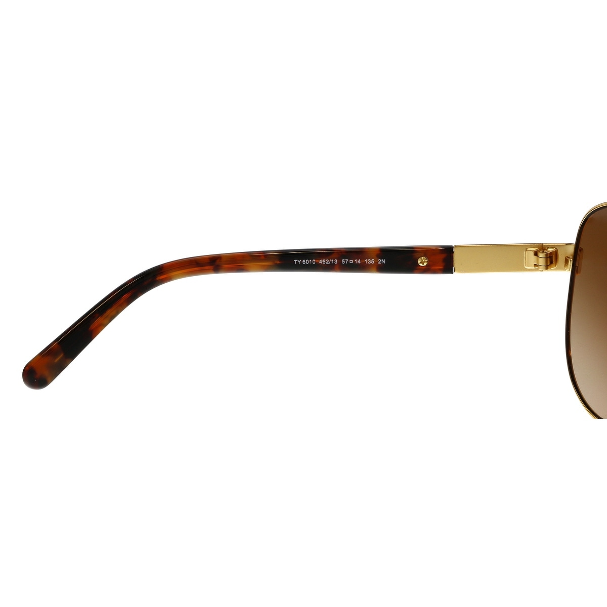 a40eff3a9825 Shop Tory Burch TY6010 462/13 Gold Tortoise Aviator Sunglasses - no size -  Free Shipping Today - Overstock - 24080337