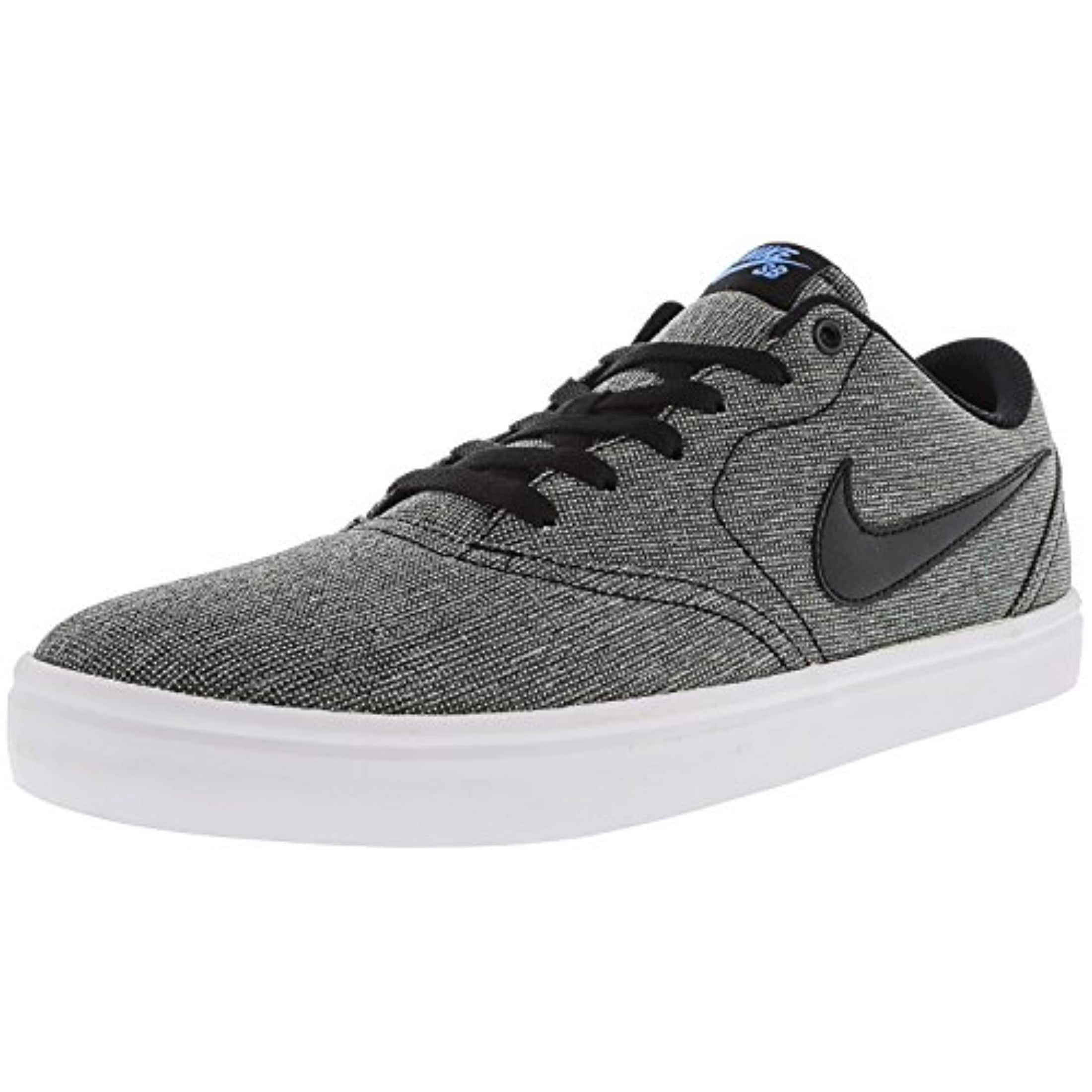 brand new ec06f 5c6ba Shop Nike Men s Sb Check Solarsoft Canvas Skate Shoe (12 D(M) Us,  Grey Black Photo Blue Black) - Free Shipping Today - Overstock - 27126119