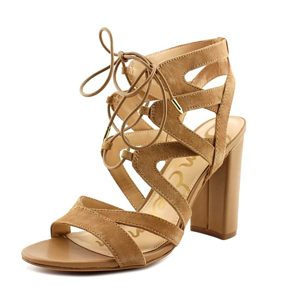 679a31bae95b93 Shop Sam Edelman Yardley Women Open Toe Suede Nude Sandals - Free ...