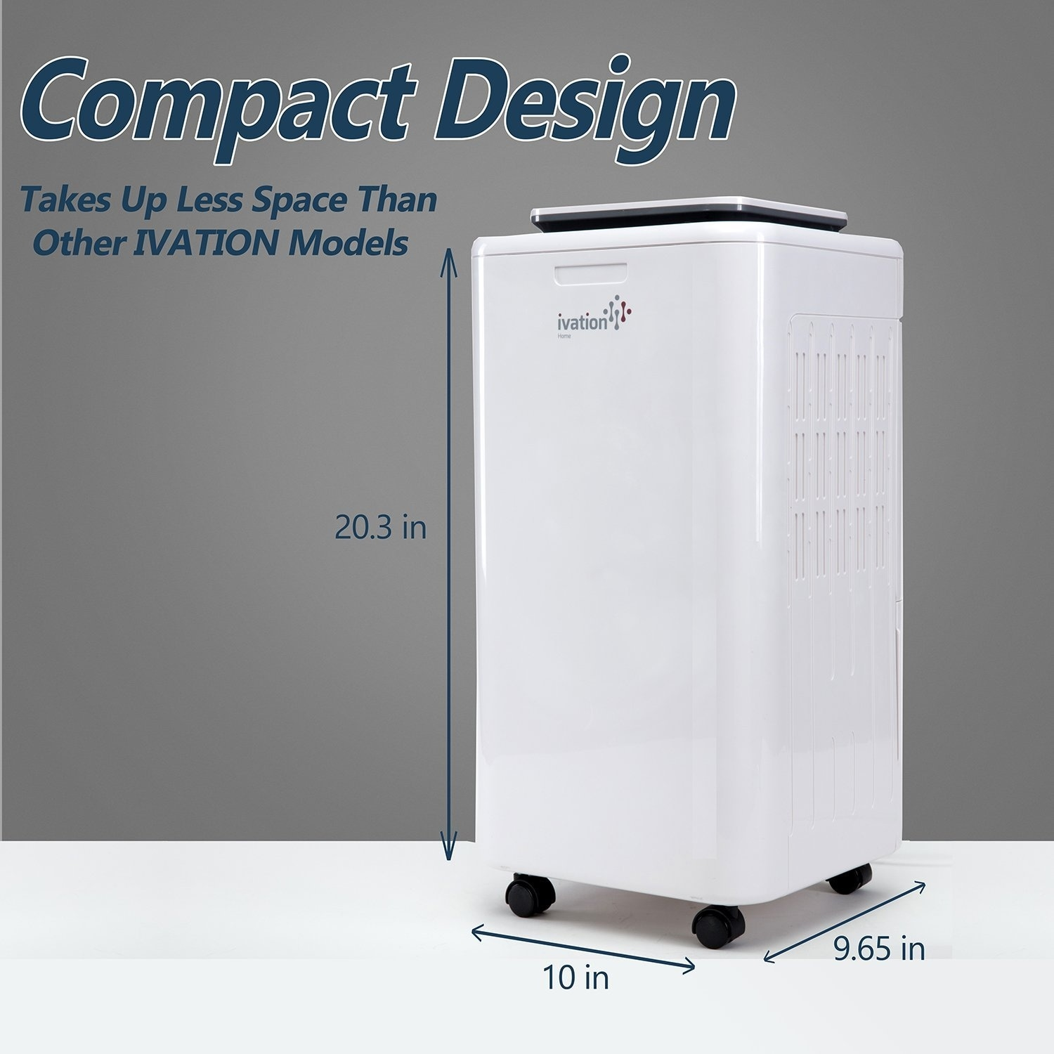 Ivation 11-Pint Small-Area Compressor Dehumidifier with Continuous Drain  Hose, Air Purifier & Ionizer For Spaces Up To 216 Sq/Ft