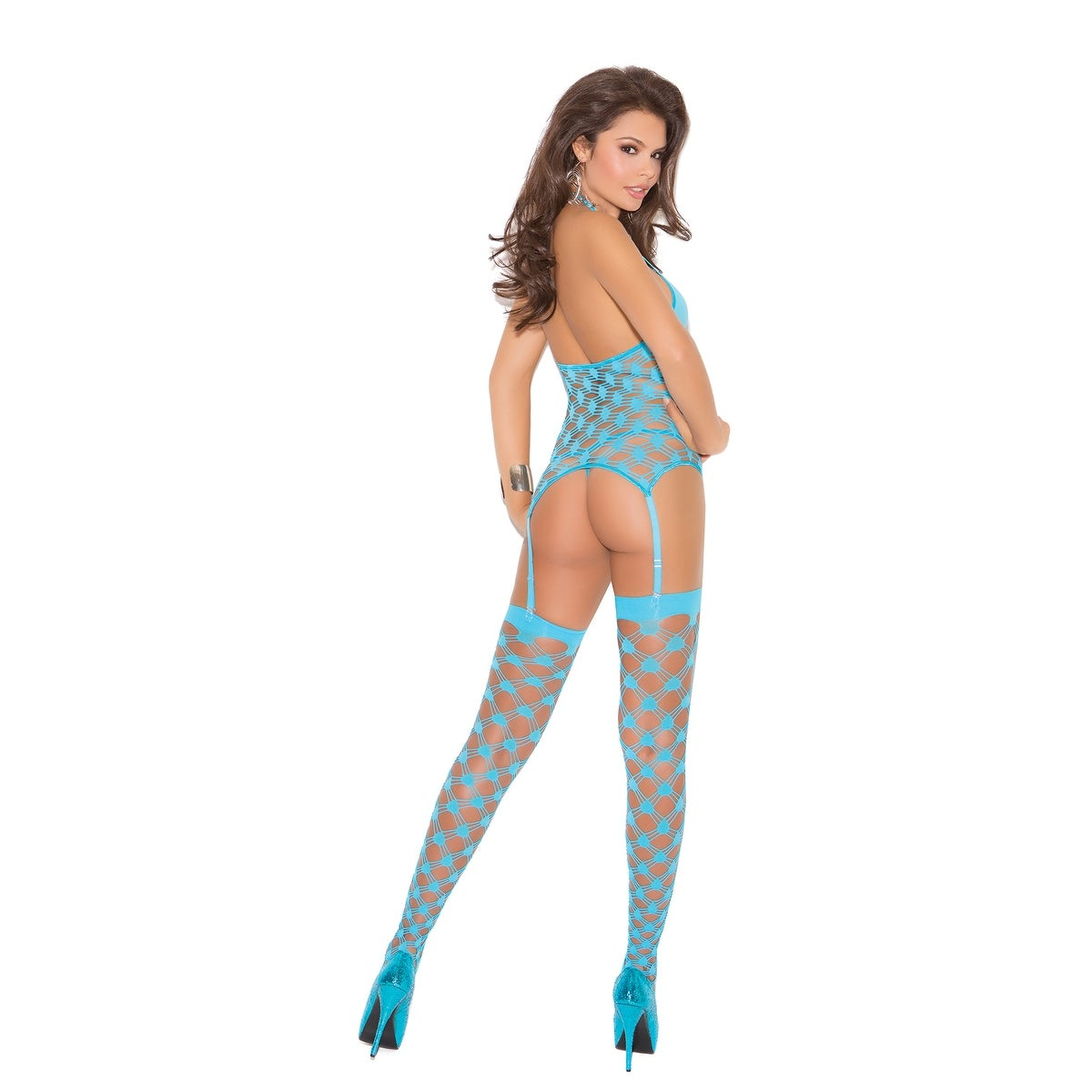 275ac086fa Shop Strappy diamond net camisette