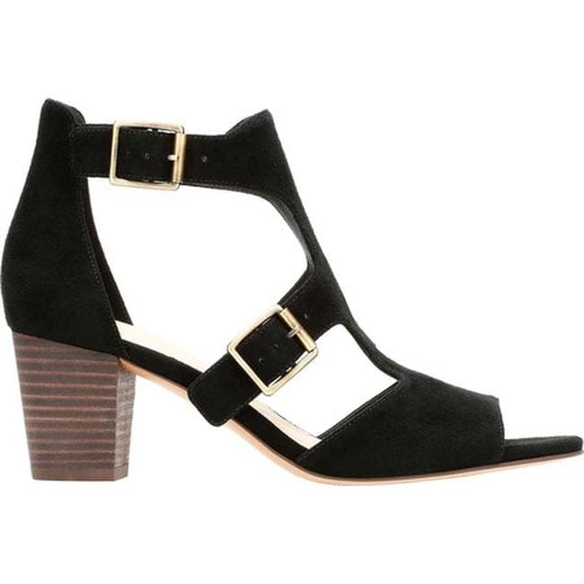 22209cbbc2 Shop Clarks Women's Deloria Kay Block Heel Sandal Black Suede - Free  Shipping Today - Overstock - 21856309