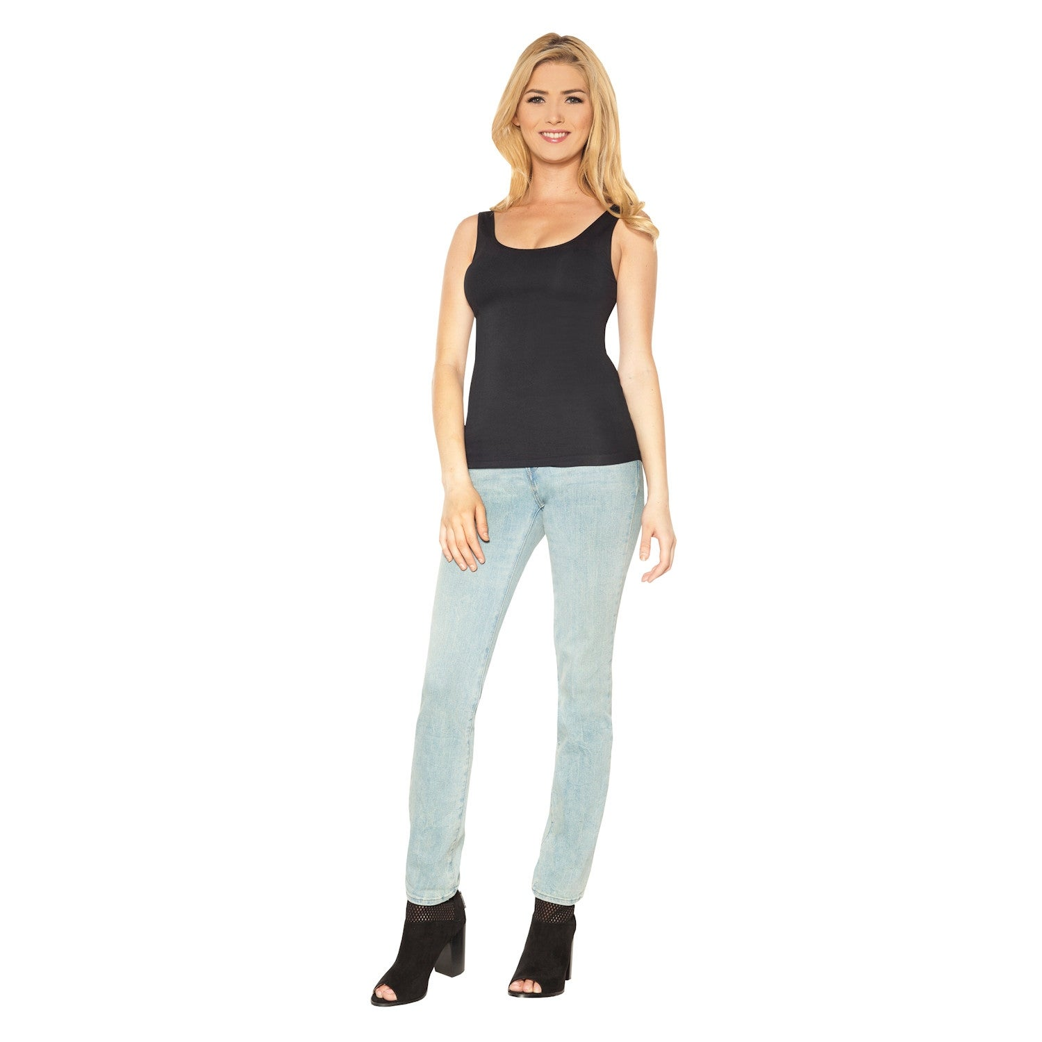 a1f4cc6e7a71e Shop Ahh by Rhonda Shear Women s Seamless Shaping Tank Top with Built-In  Shelf Bra - On Sale - Free Shipping On Orders Over  45 - Overstock -  20487475