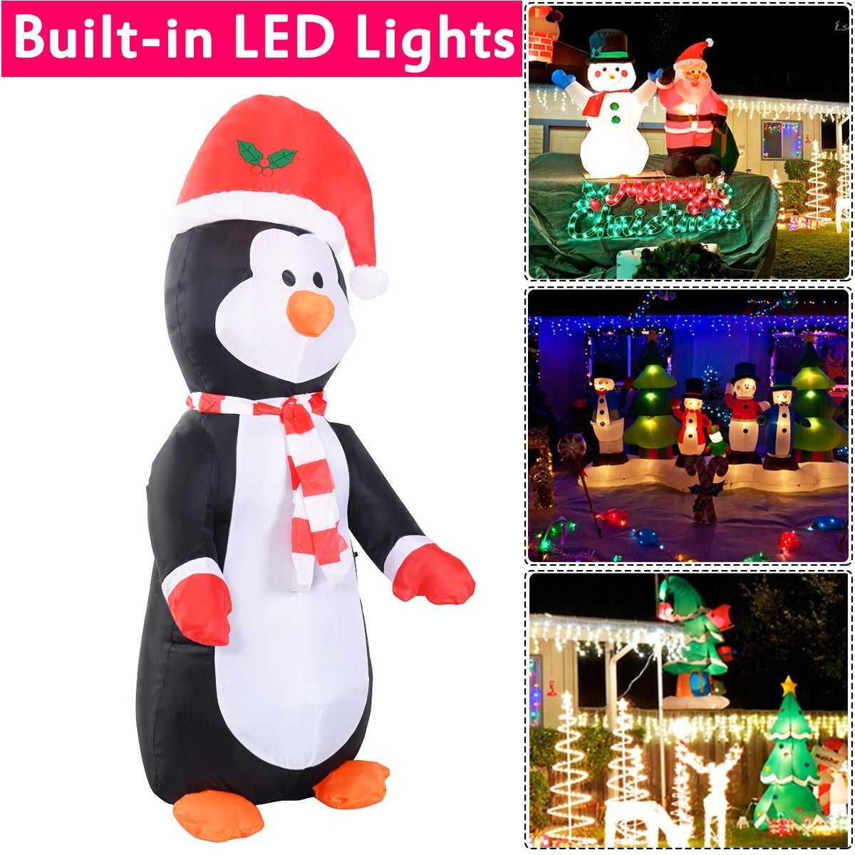 Shop Costway 4 Ft Airblown Inflatable Christmas Xmas Penguin Decor ...
