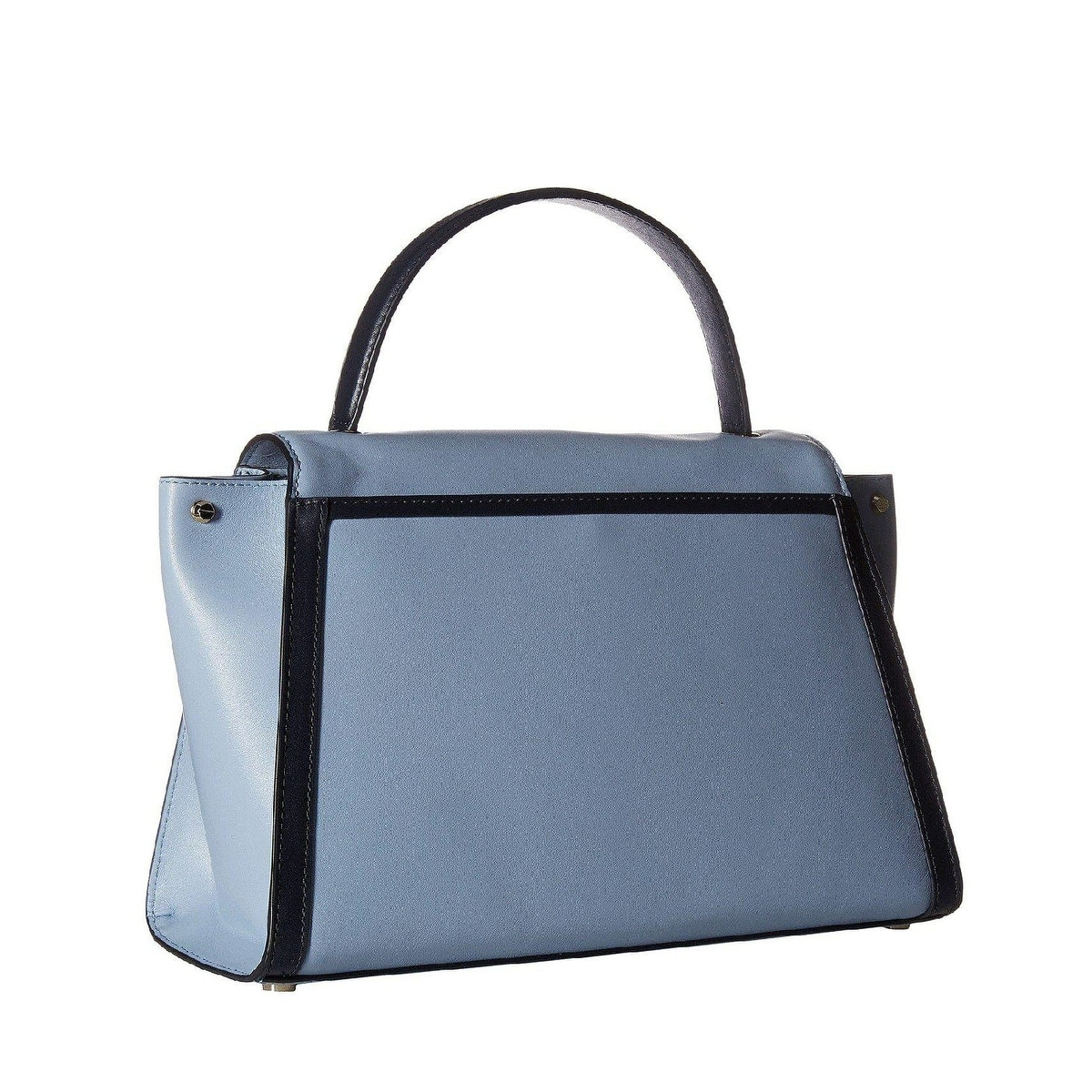 eb7bfe4ac415 Shop MICHAEL Michael Kors Whitney Large Leather Satchel Pale Blue/Admiral -  Free Shipping Today - Overstock - 27296243