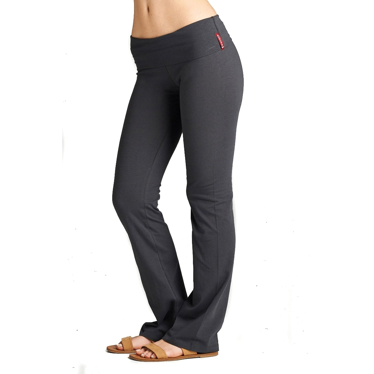 f5e1fd271bd2b Shop Simply Ravishing Yoga Pants Cotton Fold Over Waist Boot Cut (Size:  S-3X) - Free Shipping On Orders Over $45 - Overstock - 13751682