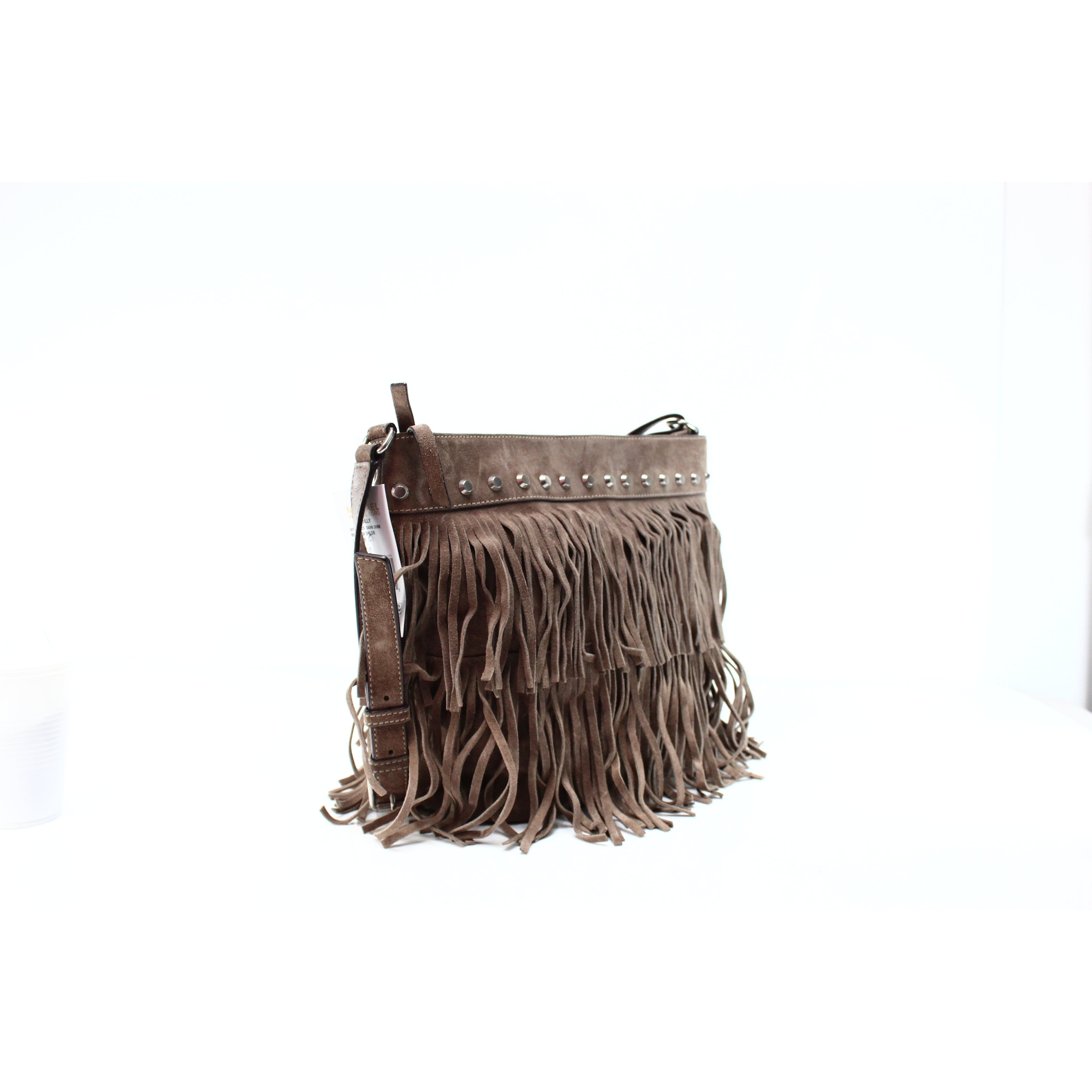 0763727a524def Shop Michael Kors NEW Beige Suede Hobo Billy Fringe Shoulder Bag Purse - Free  Shipping Today - Overstock - 17273652
