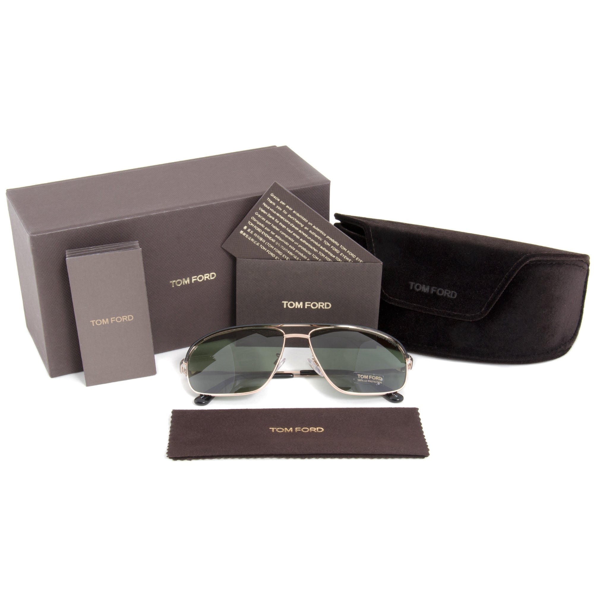 03bc5a065acd8 Shop Tom Ford Justin Sunglasses FT0467 02N - Free Shipping Today -  Overstock - 19622805