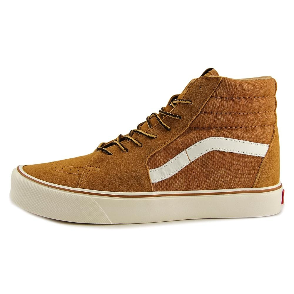 80e5400535 Shop Vans SK8-Hi Lite Men Round Toe Canvas Brown Skate Shoe - Free ...