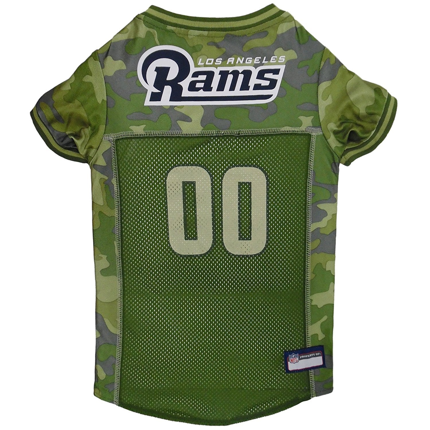 sale retailer 18fa1 7ff91 NFL Los Angeles Rams Camouflage Pet Jersey For Dogs & Cats