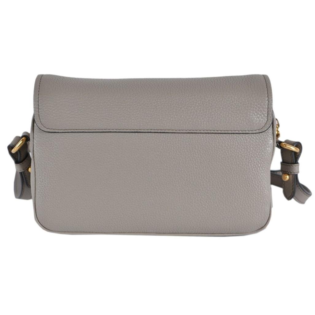 c28981eb125f7e Shop Prada Grey 1BD163 Pattina Pelle Vitello Phenix Leather Crossbody Bag  Purse - Free Shipping Today - Overstock - 27423097
