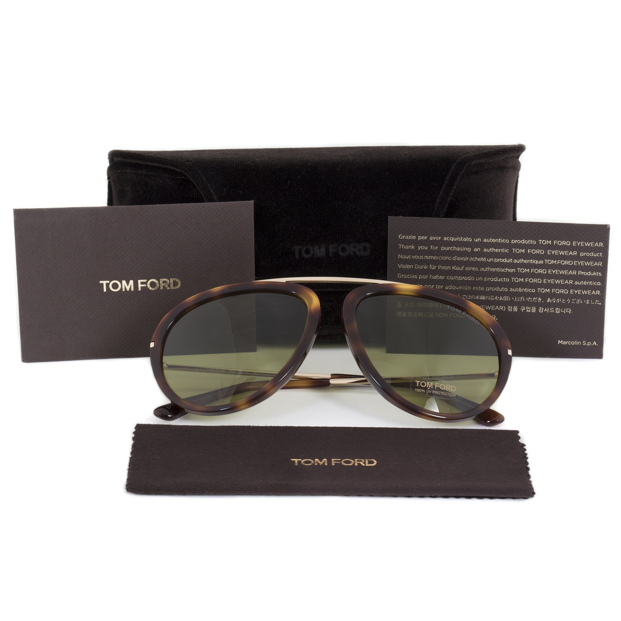 3a6632bbc88c Shop Tom Ford Stacy Men s Aviator Sunglasses FT0452 56N 57