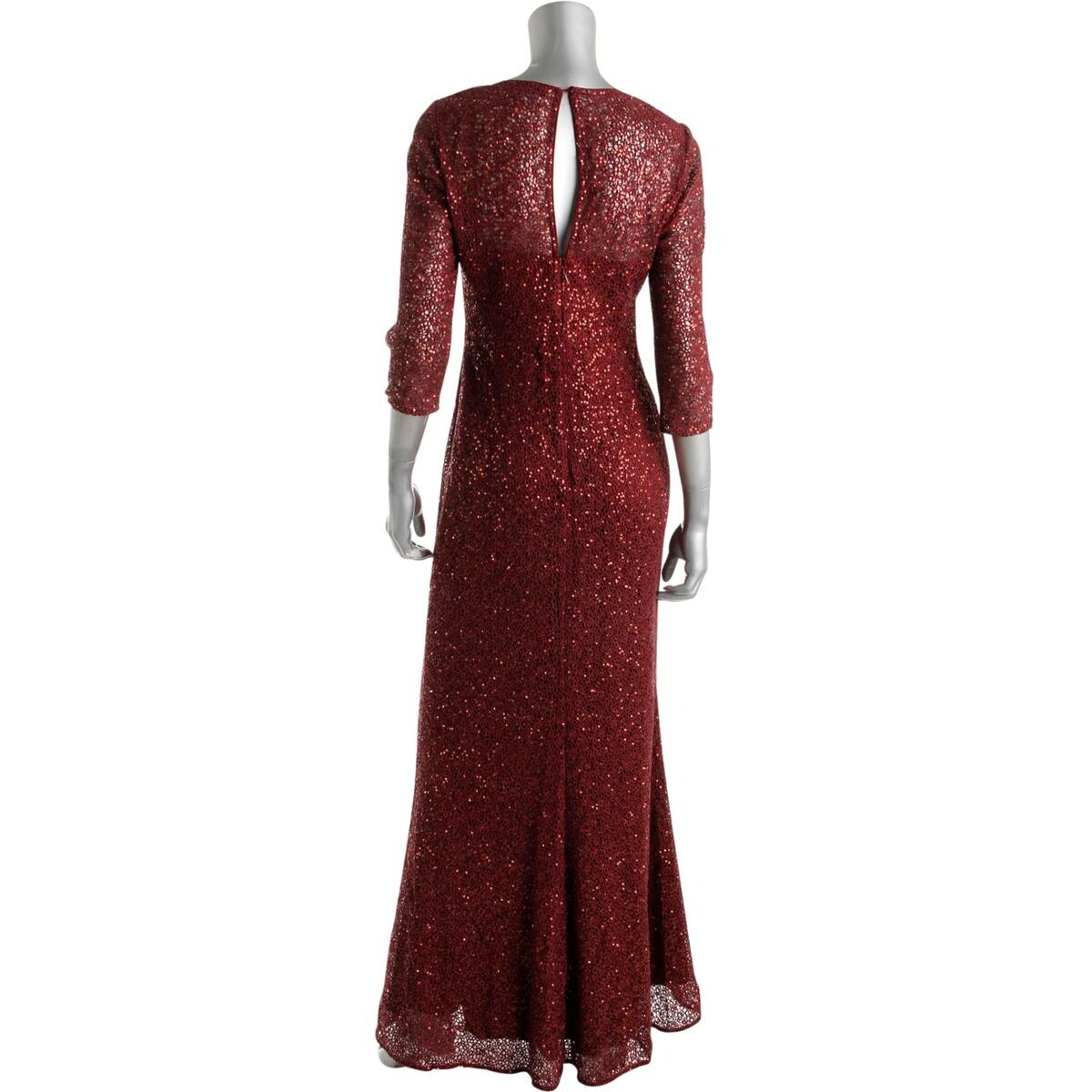 Shop Kay Unger Womens Evening Dress Lace Overlay Lined - Free ...