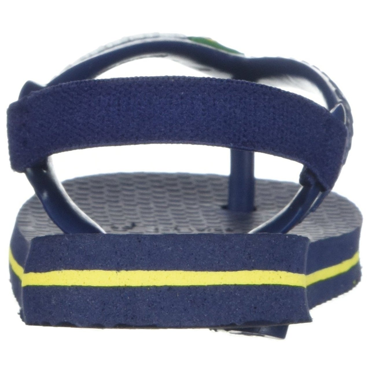 8bef84a3823b7b Shop Havaianas Kids  Baby Brazil Logo Sandal Navy Blue Citrus Yellow -  17 18 br infant (4 m us) - Free Shipping On Orders Over  45 - Overstock.com  - ...