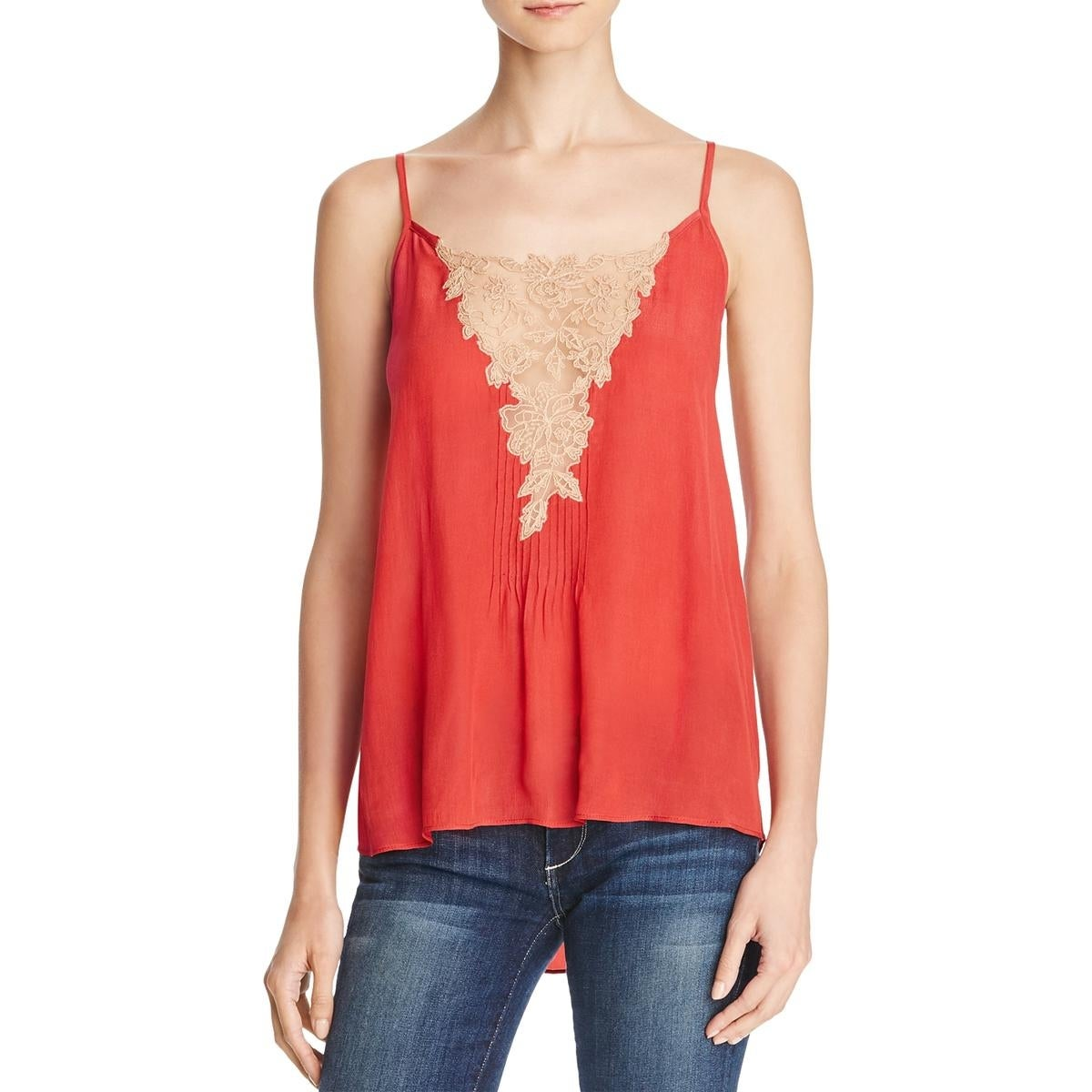 3ce4f822b49a69 Shop Love Sam Womens Tank Top Lace Inset Embroidered - Free Shipping On  Orders Over  45 - Overstock - 18413219