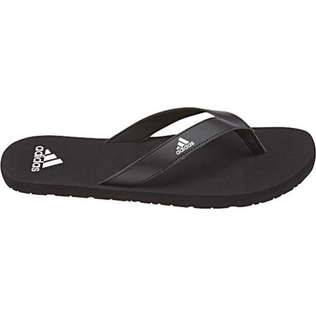 67a4a3d2cd8 Shop adidas Men s Eezay Essence Thong Sandal Black Black White - Free  Shipping On Orders Over  45 - Overstock - 19738939