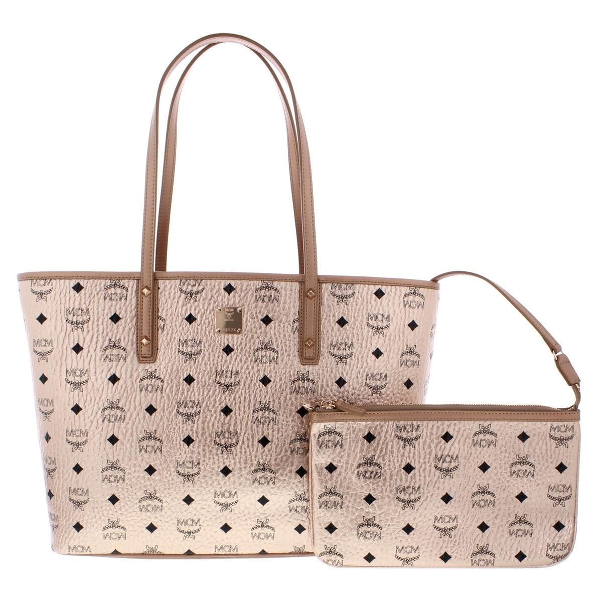 16b4fa7afd Shop MCM Womens Anya Shopper Handbag Shimmer Monogram - Medium ...