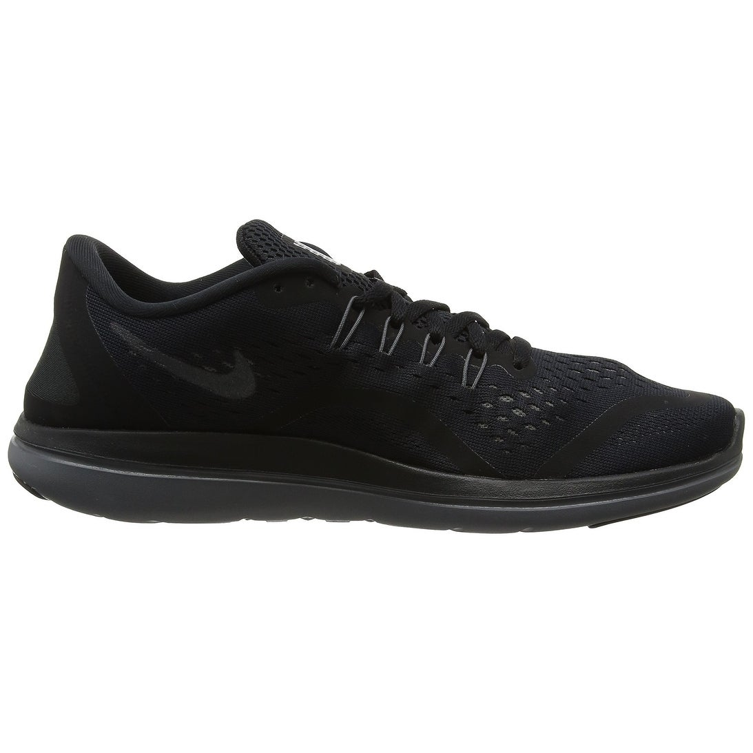 48c23ea49025 Shop Women s Nike Flex 2017 RN Running Shoe Black Metallic Hematite  Anthracite Dark Grey
