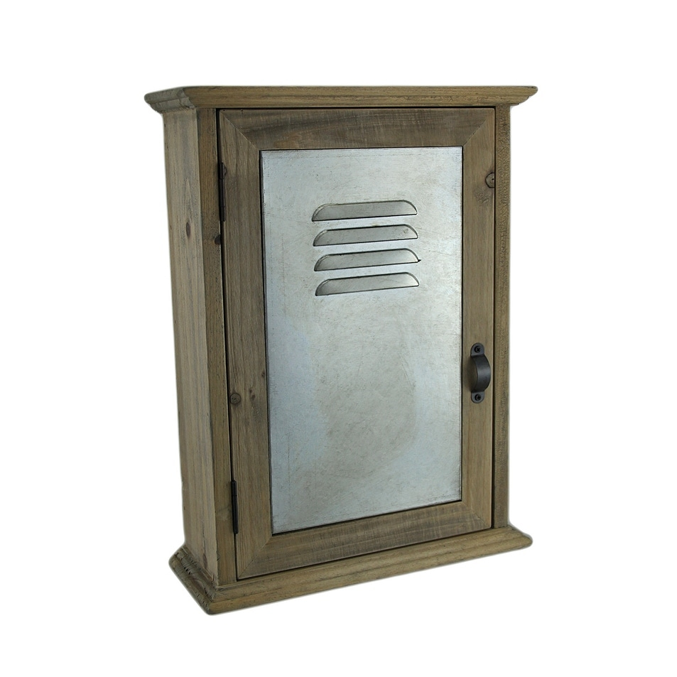 Incroyable Wall Mounted Wood And Metal Locker Style Key Cabinet   On Sale   Free  Shipping Today   Overstock.com   16941128