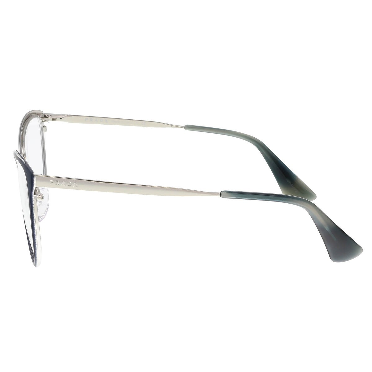 a001ef128837 Shop Prada PR 55TV U6R1O1/54 Matte Blue/Silver Cat Eye Optical Frames -  54-18-140 - Free Shipping Today - Overstock - 17768416