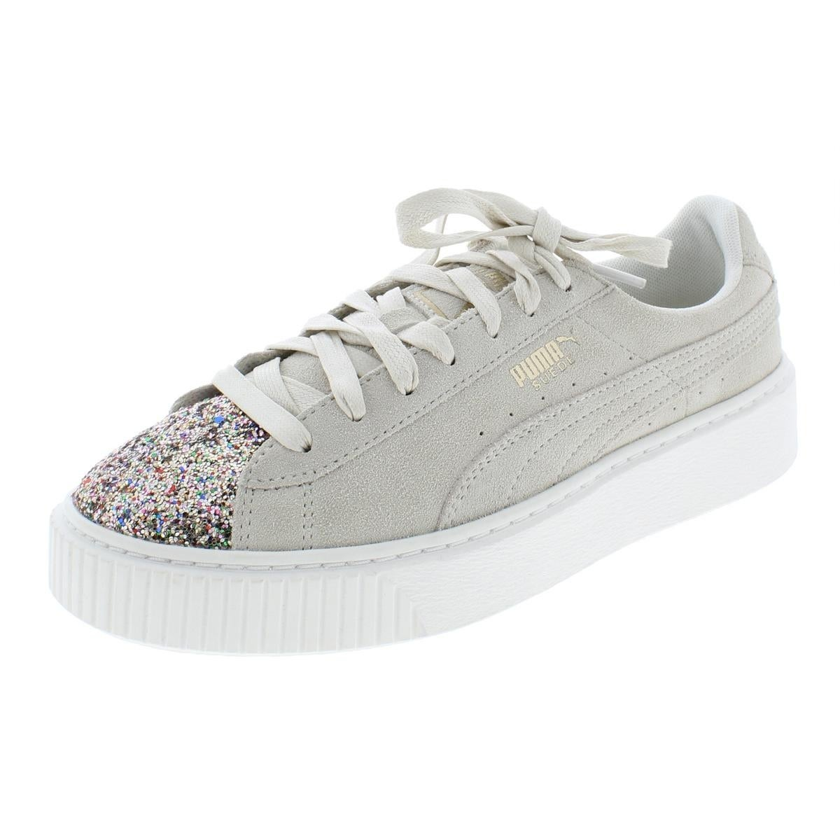 e2757777f75b Shop Puma Womens Crushed Gem Casual Shoes Suede Glitter - Free Shipping  Today - Overstock - 24104411