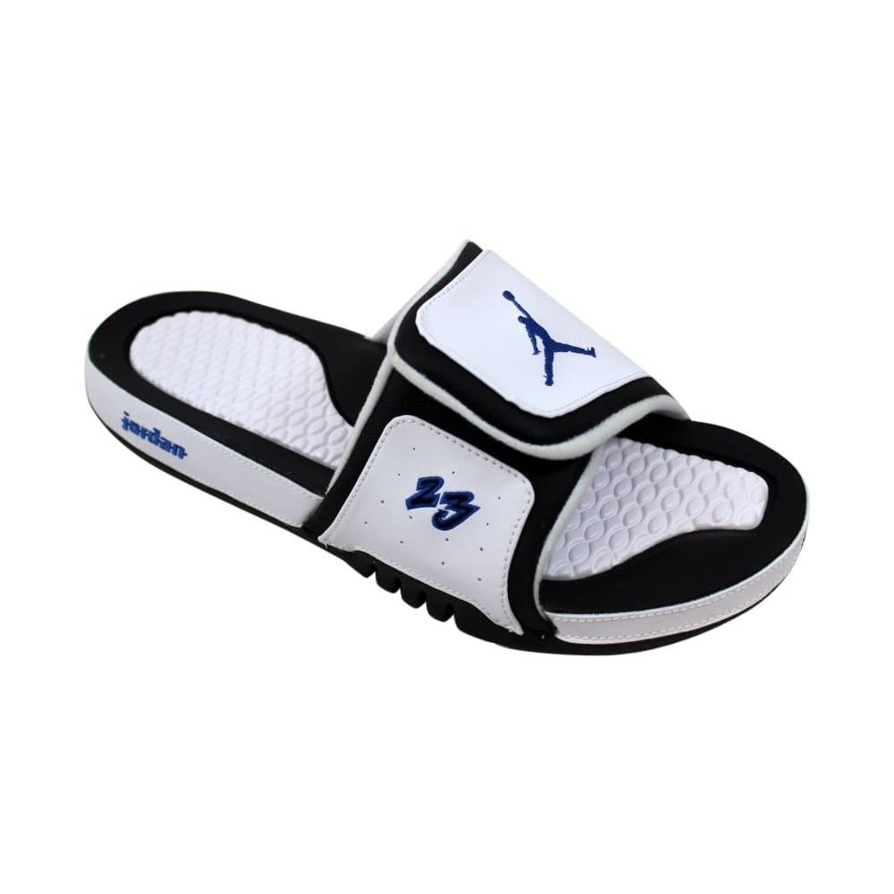 aec9b2e29f69 Shop Nike Air Jordan Hydro X 10 Retro White Royal-Black AA2521-104 Men s -  Free Shipping On Orders Over  45 - Overstock - 27876998