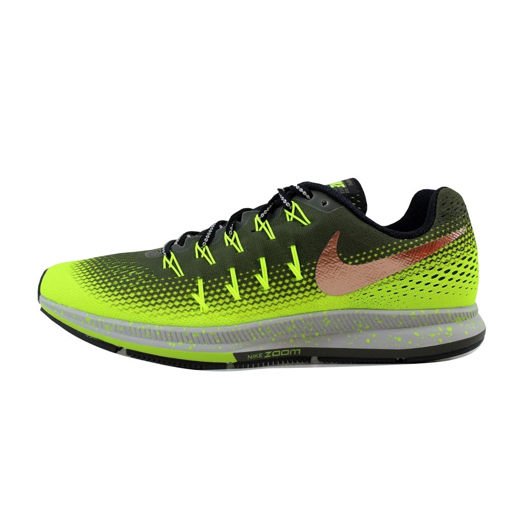 caec399f7f74 Shop Nike Men s Air Zoom Pegasus 33 Shield Cargo Khaki Metallic Red Bronze- Volt 849564-300 - Free Shipping Today - Overstock - 21141330
