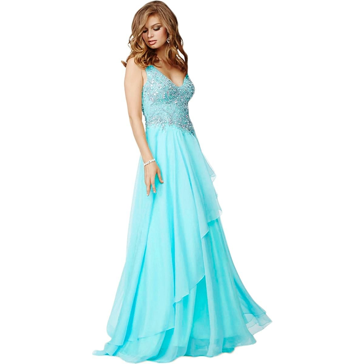 JVN by Jovani Womens Formal Dress Chiffon Embellished - Free ...